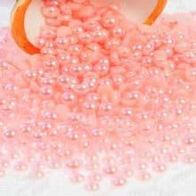 Acrylic Flat back Half Pearls - 3 4 5 6 8 & 10mm light PRETTY PINK